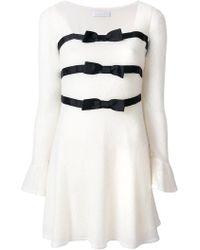 Blanchett Dame - Bow Detail Mini Dress - Lyst