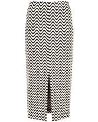 Yigal Azrouël - Front Slit Wave Skirt - Lyst