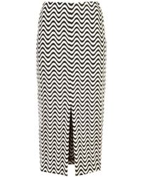 Yigal Azrouël - Front Slit Wave Skirt - Lyst