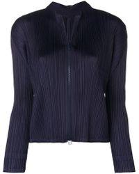 Pleats Please Issey Miyake - Pleated Zip Jacket - Lyst