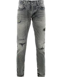 Mastercraft Union - Osechi Distressed Slim-fit Jeans - Lyst