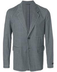 Prada - Blazer à couture contrastantes - Lyst