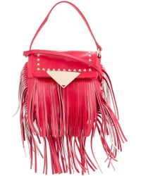 Sara Battaglia - Fringed Studded Crossbody Bag - Lyst