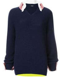 Undercover - Layered Knitted Sweater - Lyst