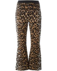 Stella McCartney - Flared Cheetah Jacquard Trousers - Lyst