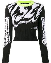 DIESEL - Jacquard Graphic Cropped Jumper - Lyst