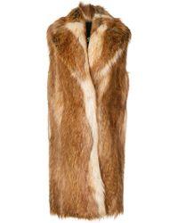Philosophy Di Lorenzo Serafini - Faux Fur Sleeveless Coat - Lyst