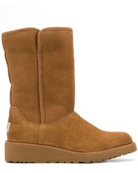 UGG - Low Heel Shearling Boots - Lyst