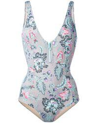 Emmanuela Swimwear - Zipped One-piece Swimsuit - Lyst