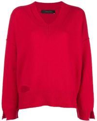 FEDERICA TOSI - Cut-detail Fitted Sweater - Lyst