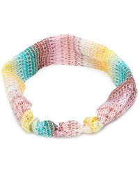 Missoni - Lamé Knitted Headband - Lyst