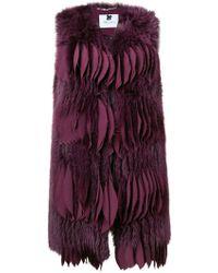 Blumarine - Short Fur Gilet - Lyst