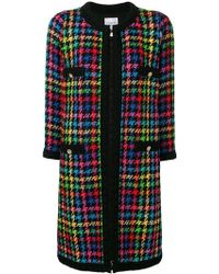 Edward Achour Paris - Houndstooth Single-breasted Coat - Lyst