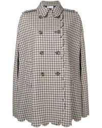 RED Valentino - Scalloped-detail Checked Cape - Lyst