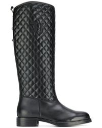 Trussardi - Quilted Effect Boots - Lyst