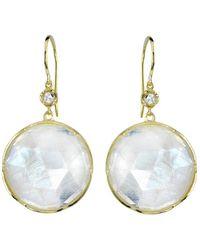 Irene Neuwirth - Moonstone And Diamond Earrings - Lyst