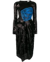 Preen By Thornton Bregazzi - Sequin Embellished Fitted Dress - Lyst