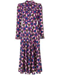 Parden's - Geometric Print Shirt Dress - Lyst