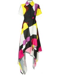 Solace London - Abstract Shirt Dress - Lyst