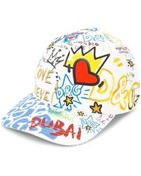 Lyst - Gorra de béisbol con logo Dolce   Gabbana de hombre de color ... f31533b2a63