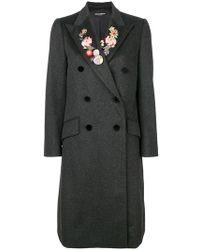 Dolce & Gabbana - Floral Lapel Coat - Lyst