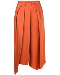 Chalayan - Cropped Draped Trousers - Lyst