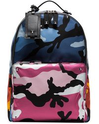 Valentino - Multicoloured Camouflage Print Backpack - Lyst