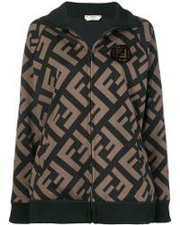 Fendi - Logo-printed Zipped Jacket - Lyst
