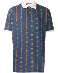 64bd92bb2 Gucci Kingsnake Embroidered Polo Shirt in White for Men - Save 7% - Lyst