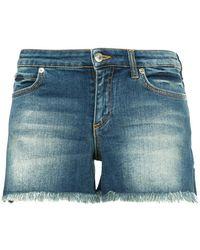 Versace - Contrast Pocket Denim Shorts - Lyst