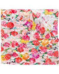 Blumarine - Floral Scarf - Lyst