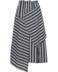 Astraet - Striped Asymmetric Skirt - Lyst