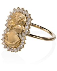 Anissa Kermiche 18k Yellow Gold Madame Roland Diamond Ring - Metallic