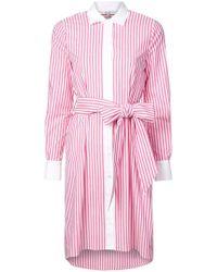 Badgley Mischka - Robe-chemise à rayures - Lyst