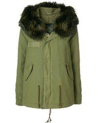 Mr & Mrs Italy - Fox Fur Trimmed Parka Coat - Lyst