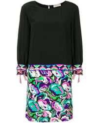 Emilio Pucci - Three-quarter Sleeves Short Dress - Lyst