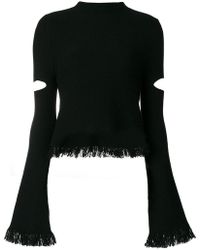 Zoe Jordan - Cut-out Fringe Jumper - Lyst