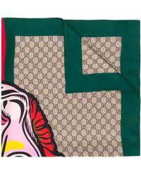 Gucci インターロッキングg スカーフ - マルチカラー