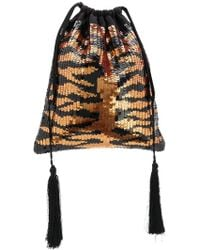 Attico - Sequinned Pouch Bag - Lyst