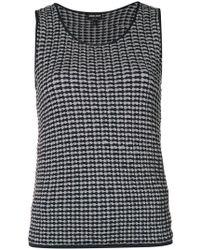 Giorgio Armani - Embroidered Sleeveless Jumper - Lyst