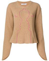 Vivetta - Embroidered Design Jumper - Lyst