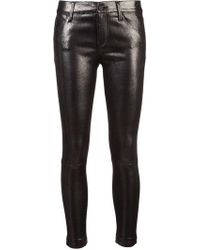 RTA - Coated Skinny Trousers - Lyst