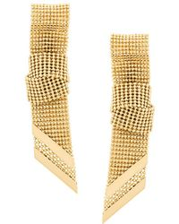 Lanvin - Ribbon Chain Earrings - Lyst