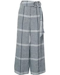 SUNO - Plaid Cropped Trousers - Lyst