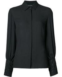Josie Natori - Embellished Sleeve Shirt - Lyst