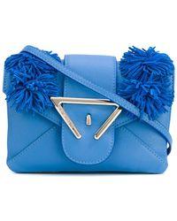 Sara Battaglia - Frayed Detail Crossbody Bag - Lyst
