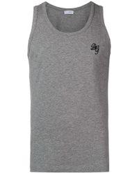 Dolce & Gabbana - Logo Vest Top - Lyst