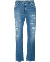 Dondup - Cropped-Jeans in Distressed-Optik - Lyst