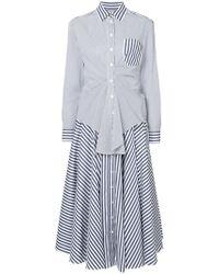 Rossella Jardini - Striped Shirt Dress - Lyst