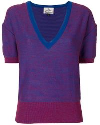 Vivienne Westwood Red Label - Deep V-neck Jumper - Lyst